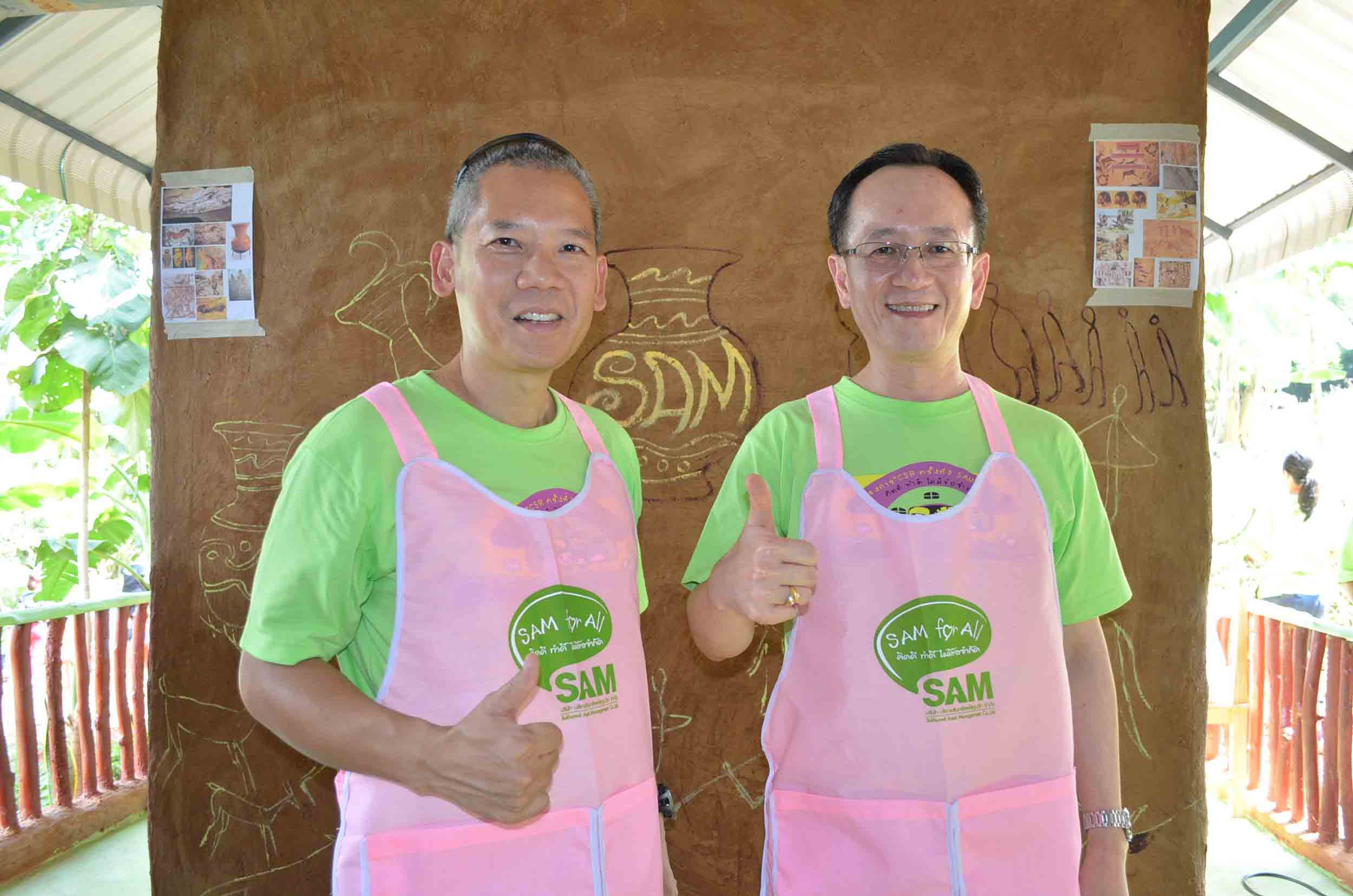 CSR activity: Opening of a clay-house library donated as wisdom asset at Uthai Thani province